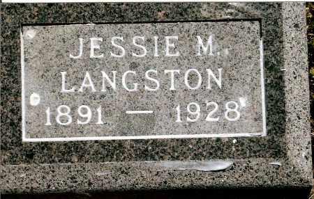 LANGSTON, JESSIE M. - Keya Paha County, Nebraska | JESSIE M. LANGSTON - Nebraska Gravestone Photos