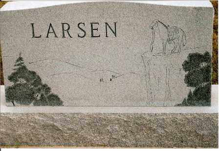 LARSEN, ART & EDNA - Keya Paha County, Nebraska | ART & EDNA LARSEN - Nebraska Gravestone Photos