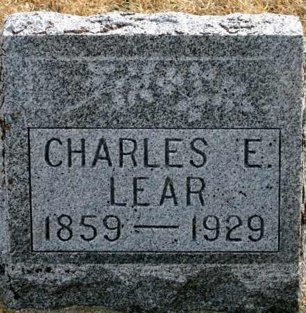 LEAR, CHARLES E. - Keya Paha County, Nebraska | CHARLES E. LEAR - Nebraska Gravestone Photos