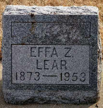 LEAR, EFFA Z. - Keya Paha County, Nebraska | EFFA Z. LEAR - Nebraska Gravestone Photos