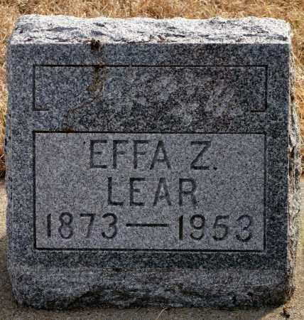 MANIFOLD LEAR, EFFA Z. - Keya Paha County, Nebraska | EFFA Z. MANIFOLD LEAR - Nebraska Gravestone Photos