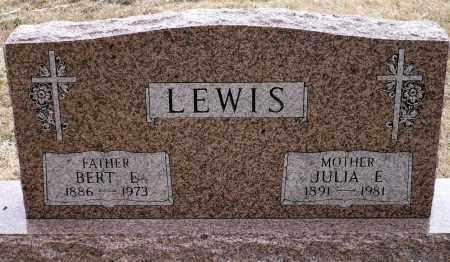 LEWIS, BERT E. - Keya Paha County, Nebraska | BERT E. LEWIS - Nebraska Gravestone Photos