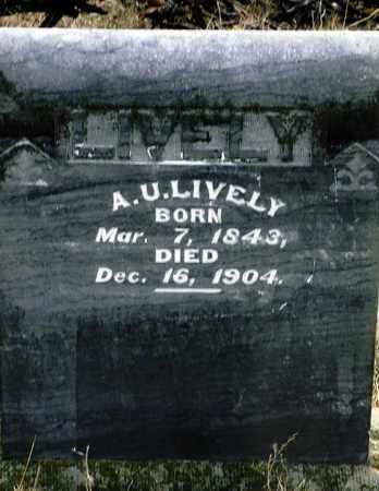 LIVELY, A. U. - Keya Paha County, Nebraska   A. U. LIVELY - Nebraska Gravestone Photos