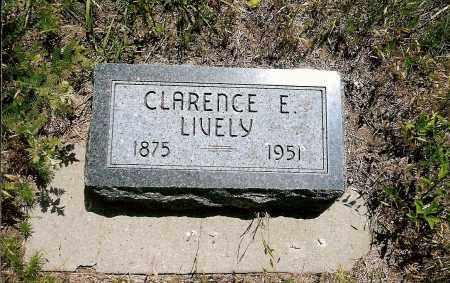 LIVELY, CLARENCE E. - Keya Paha County, Nebraska | CLARENCE E. LIVELY - Nebraska Gravestone Photos