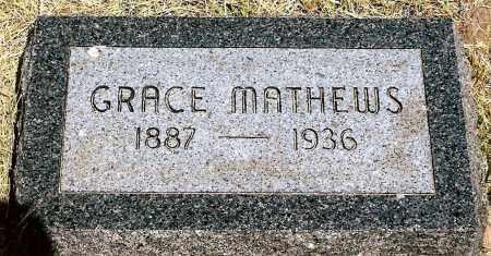MATHEWS, GRACE - Keya Paha County, Nebraska   GRACE MATHEWS - Nebraska Gravestone Photos