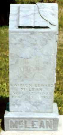 MCLEAN, LAUREN EDWARD - Keya Paha County, Nebraska | LAUREN EDWARD MCLEAN - Nebraska Gravestone Photos