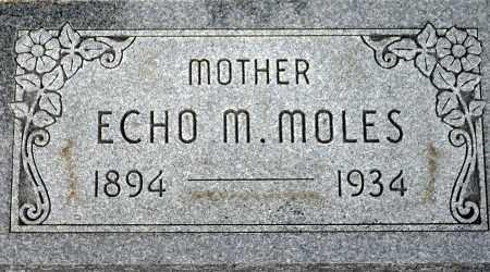 CARR MOLES, ECHO M. - Keya Paha County, Nebraska | ECHO M. CARR MOLES - Nebraska Gravestone Photos