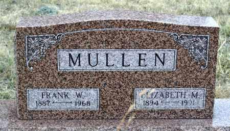 MULLEN, FRANK W. - Keya Paha County, Nebraska | FRANK W. MULLEN - Nebraska Gravestone Photos