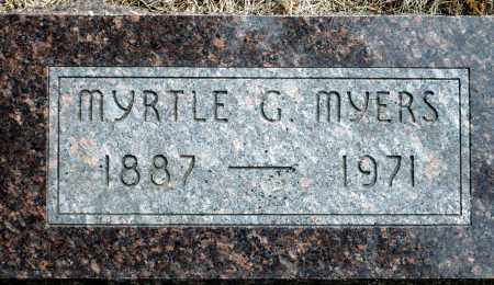 CLOPTON MYERS, MYRTLE G. - Keya Paha County, Nebraska | MYRTLE G. CLOPTON MYERS - Nebraska Gravestone Photos