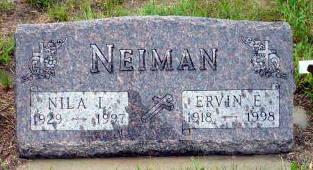 NEIMAN, ERVIN E. - Keya Paha County, Nebraska | ERVIN E. NEIMAN - Nebraska Gravestone Photos