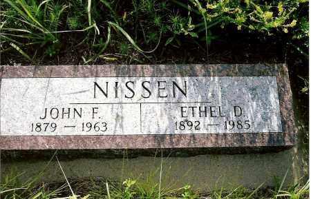 NISSEN, JOHN F. - Keya Paha County, Nebraska | JOHN F. NISSEN - Nebraska Gravestone Photos