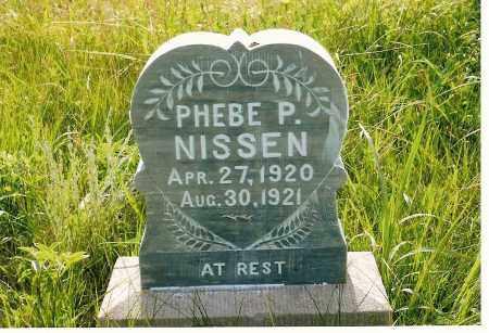 NISSEN, PHEBE P. - Keya Paha County, Nebraska   PHEBE P. NISSEN - Nebraska Gravestone Photos