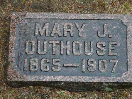 HUTCHESON OUTHOUSE, MARY J. - Keya Paha County, Nebraska | MARY J. HUTCHESON OUTHOUSE - Nebraska Gravestone Photos
