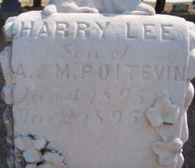 POITEVIN, HARRY LEE (CLOSEUP) - Keya Paha County, Nebraska   HARRY LEE (CLOSEUP) POITEVIN - Nebraska Gravestone Photos