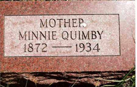 QUIMBY, MINNIE - Keya Paha County, Nebraska | MINNIE QUIMBY - Nebraska Gravestone Photos
