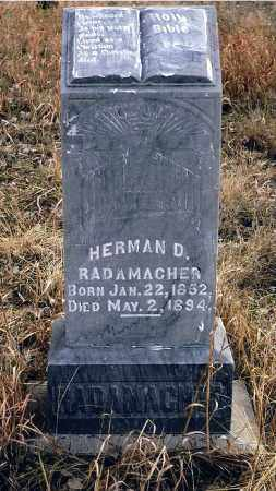 RADAMACHER, HERMAN D. - Keya Paha County, Nebraska | HERMAN D. RADAMACHER - Nebraska Gravestone Photos