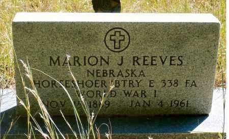 REEVES, MARION J. - Keya Paha County, Nebraska | MARION J. REEVES - Nebraska Gravestone Photos