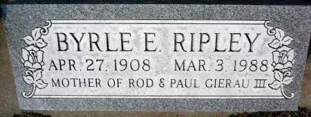 MANIFOLD RIPLEY, BYRLE E. - Keya Paha County, Nebraska | BYRLE E. MANIFOLD RIPLEY - Nebraska Gravestone Photos