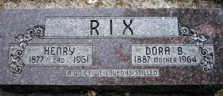 RIX, HENRY - Keya Paha County, Nebraska | HENRY RIX - Nebraska Gravestone Photos