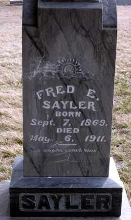 SAYLER, FRED E. - Keya Paha County, Nebraska | FRED E. SAYLER - Nebraska Gravestone Photos