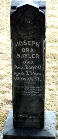 SAYLER, JOSEPH ORA - Keya Paha County, Nebraska   JOSEPH ORA SAYLER - Nebraska Gravestone Photos