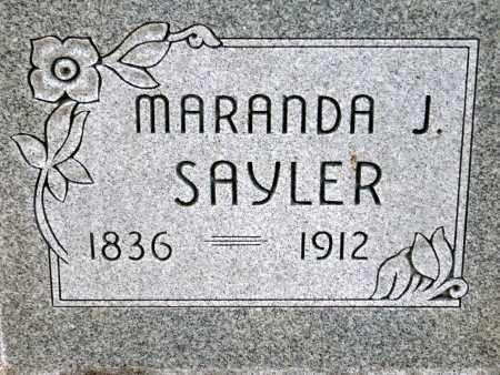 SAYLER, MARANDA J. - Keya Paha County, Nebraska | MARANDA J. SAYLER - Nebraska Gravestone Photos