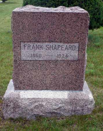 SHAPEARD, FRANK - Keya Paha County, Nebraska | FRANK SHAPEARD - Nebraska Gravestone Photos