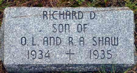 SHAW, RICHARD D. - Keya Paha County, Nebraska | RICHARD D. SHAW - Nebraska Gravestone Photos