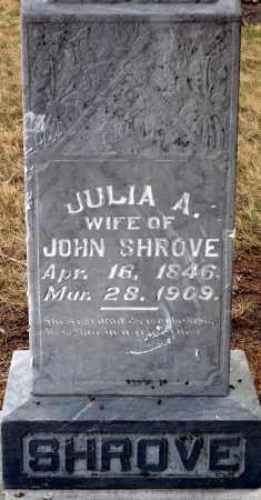 SHROVE, JULIA A. - Keya Paha County, Nebraska | JULIA A. SHROVE - Nebraska Gravestone Photos