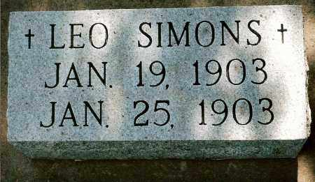 SIMONS, LEO - Keya Paha County, Nebraska | LEO SIMONS - Nebraska Gravestone Photos