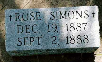 SIMONS, ROSE - Keya Paha County, Nebraska   ROSE SIMONS - Nebraska Gravestone Photos