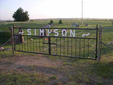 *SIMPSON CEMETERY, ENTRANCE SIGN - Keya Paha County, Nebraska | ENTRANCE SIGN *SIMPSON CEMETERY - Nebraska Gravestone Photos