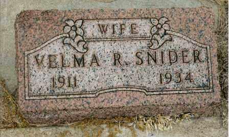 REES SNIDER, VELMA R. - Keya Paha County, Nebraska | VELMA R. REES SNIDER - Nebraska Gravestone Photos