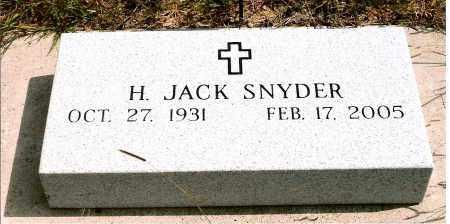 SNYDER, HARLEY JACK - Keya Paha County, Nebraska | HARLEY JACK SNYDER - Nebraska Gravestone Photos