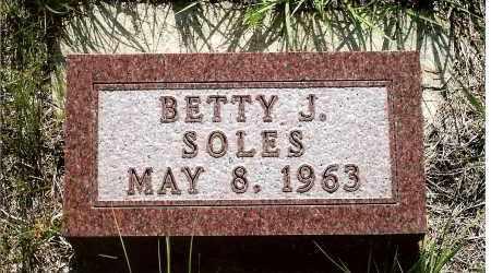 SOLES, BETTY J. - Keya Paha County, Nebraska | BETTY J. SOLES - Nebraska Gravestone Photos