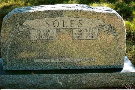 SOLES, MARY JANE - Keya Paha County, Nebraska | MARY JANE SOLES - Nebraska Gravestone Photos