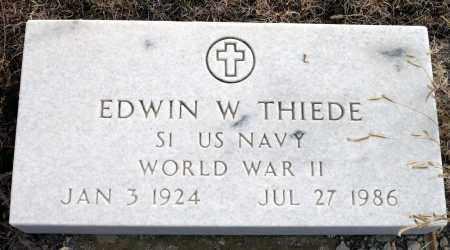 THIEDE, EDWIN W. - Keya Paha County, Nebraska | EDWIN W. THIEDE - Nebraska Gravestone Photos