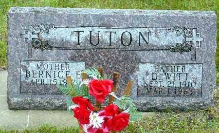 TUTON, BERNICE E. - Keya Paha County, Nebraska | BERNICE E. TUTON - Nebraska Gravestone Photos