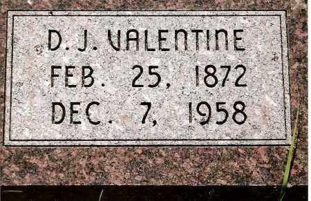 VALENTINE, D.J. - Keya Paha County, Nebraska | D.J. VALENTINE - Nebraska Gravestone Photos