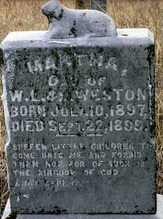 WESTON, MARTHA - Keya Paha County, Nebraska   MARTHA WESTON - Nebraska Gravestone Photos
