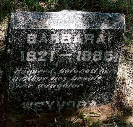 WEYVODA, BARBARA - Keya Paha County, Nebraska | BARBARA WEYVODA - Nebraska Gravestone Photos