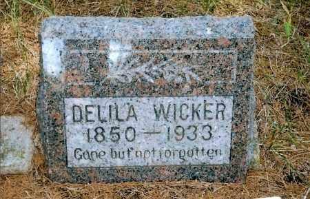 HARGER WICKER, DELILA - Keya Paha County, Nebraska | DELILA HARGER WICKER - Nebraska Gravestone Photos