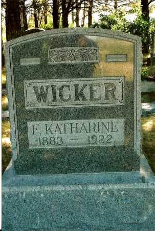 WICKER, F. KATHARINE - Keya Paha County, Nebraska | F. KATHARINE WICKER - Nebraska Gravestone Photos