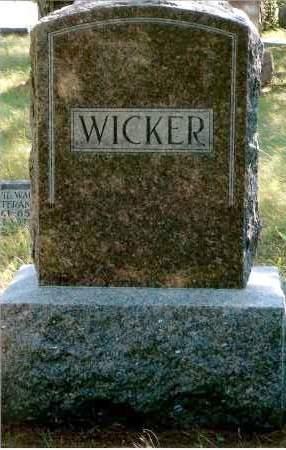WICKER, FAMILY - Keya Paha County, Nebraska   FAMILY WICKER - Nebraska Gravestone Photos