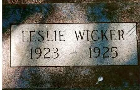 WICKER, LESLIE - Keya Paha County, Nebraska | LESLIE WICKER - Nebraska Gravestone Photos
