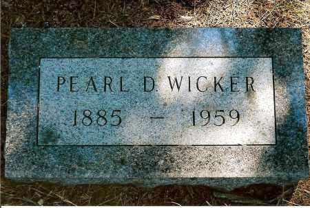WICKER, PEARL D. - Keya Paha County, Nebraska | PEARL D. WICKER - Nebraska Gravestone Photos