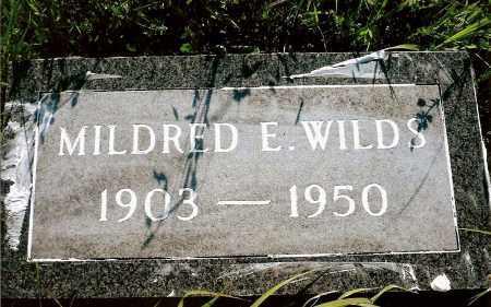 WILDS, MILDRED E. - Keya Paha County, Nebraska   MILDRED E. WILDS - Nebraska Gravestone Photos