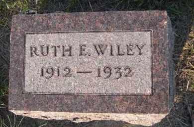 WILEY, RUTH E. - Keya Paha County, Nebraska | RUTH E. WILEY - Nebraska Gravestone Photos