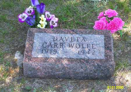 CARR WOLFE, DAVETA - Keya Paha County, Nebraska | DAVETA CARR WOLFE - Nebraska Gravestone Photos