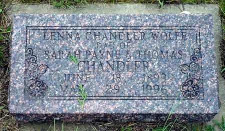CHANDLER WOLFE, LENNA - Keya Paha County, Nebraska | LENNA CHANDLER WOLFE - Nebraska Gravestone Photos